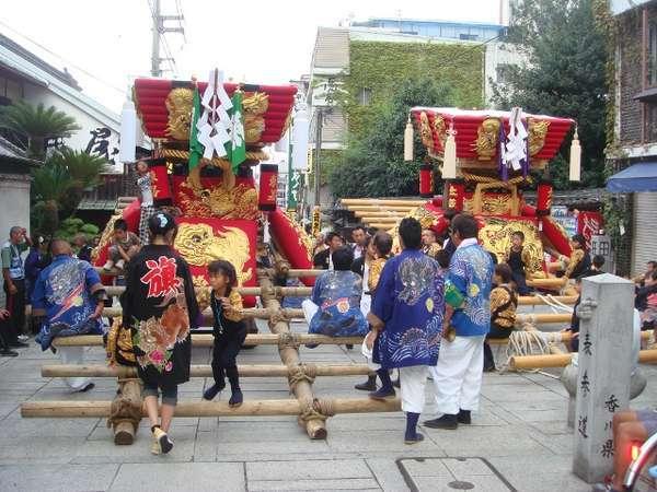 10月3日に獅子舞・太鼓台かきくらべが開催されます!!