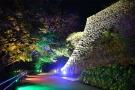 【丸亀城キャッスルロード】大手門から天守まで様々な灯りで彩る、幻想的な夜の丸亀城♪
