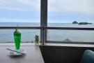 【大川オアシス】瀬戸内海と空をバックにクリームソーダが写真映え♪